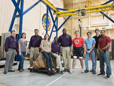 JSC2012-E-032515 -- The Prairie View A&M senior design team and the ARGOS team