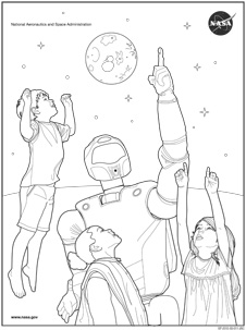 nasa space coloring pages - photo#10