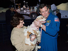 Astronaut Mike Foreman and Jenny