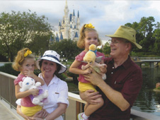 Pops and Diane at Disney with Abby and Anna (Photo courtesy Mike Coats)