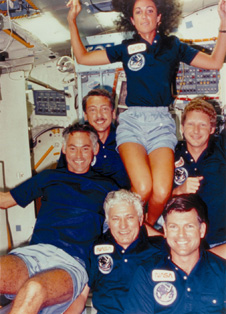 The crew of STS-41D