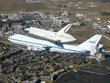 Shuttle Carrier Aircraft and space shuttle Endeavour