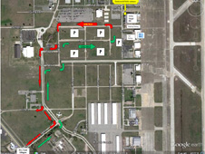 Ellington Field parking map