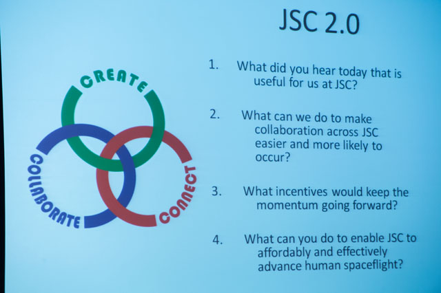 jsc2013e028726 -- JSC 2.0 was the major theme behind the suggestions put forth
