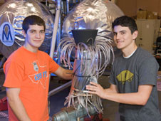 Career Exploration Program students Michael Carnell and Hunter Zambrano