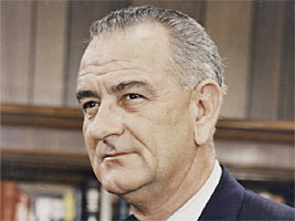 Lyndon Baines Johnson, 36th President of the United States.