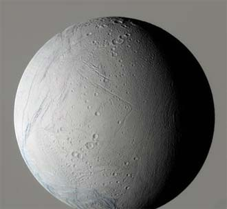 False Color View of Enceladus