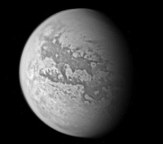 Titan, seen during Cassini's Mar. 31 flyby