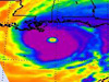 infrared view of Hurricane Ivan