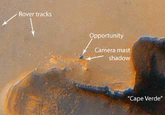 Mars Reconnaissance Orbiter view of Opportunity