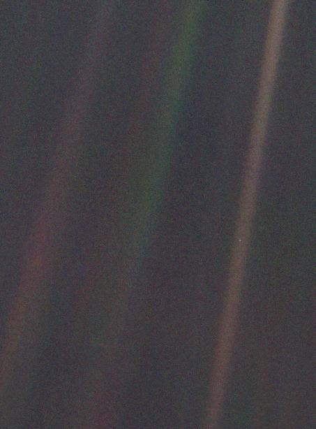 Nasa Earth The Lone Pale Blue Dot