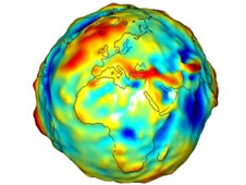 gravity model showing Europe and Africa