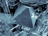Cristobalite, which is shown here in this magnified view, is found on Earth in volcanic lava flows