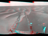 NASA's Mars Exploration Rover Opportunity used its navigation camera to take the images combined into this stereo, 180-degree view of the rover's surroundings