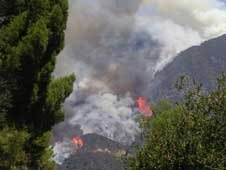 Station fire near JPL, Aug. 29, 2009