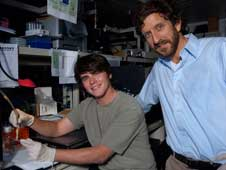 student Dennis Murray and JPL's Peter Willis