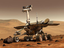 Artist concept of Mars Exploration Rover. Image credit: NASA/JPL-Caltech