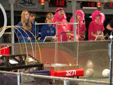Image of the teams operating their robots remotely