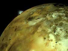 volcano on Jupiter's moon Io
