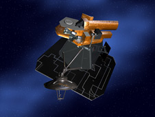 Artist's concept of the Deep Impact spacecraft