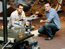 JPL intern Heriberto Reynoso and NASA/JPL robotics software engineer Matt DiCicco