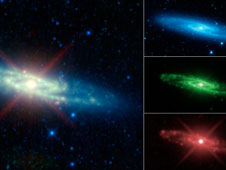Sculptor Galaxy Seen as Infrared Rainbow