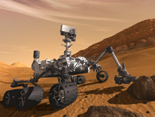 Artist's concept of NASA's Mars Science Laboratory rover