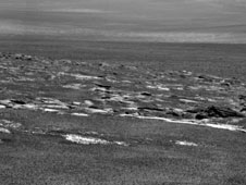 NASA's Mars Exploration Rover Opportunity used its panoramic camera to capture this view of a portion of Endeavour crater's rim