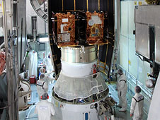 The payload fairing is added to the GRAIL booster
