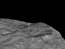 High Cliffs at Vesta's South Pole