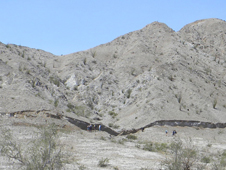 This five-foot-high (1.5-meter-high) surface rupture, called a scarp, formed in just seconds along the Borrego fault during the magnitude 7.2