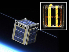 CubeSat Artist Rendering and NASA's M-Cubed/COVE
