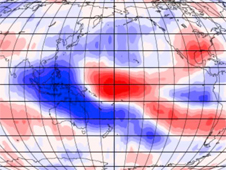Patterns that relate changes in cloud-top height with El Nino/ La Nina