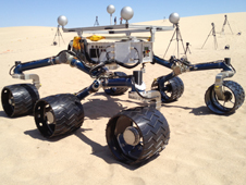Test Rover Aids Preparations in California for Curiosity Rover on Mars