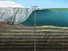Rendering of drilling operations during the ANDRILL campaign
