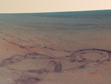 'Greeley Panorama' from Opportunity's Fifth Martian Winter (False Color)