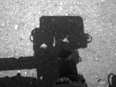 Curiosity Looks Away from the Sun