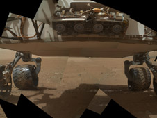 Panorama of Curiosity's Belly Check