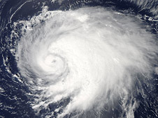 This visible image of Hurricane Leslie was captured by the MODIS instrument aboard NASA's Aqua satellite on Sept. 5