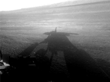 Shadow Self-Portrait by Opportunity at Endeavour Crater