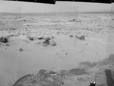 Curiosity's Eastward View After Sol 100 Drive