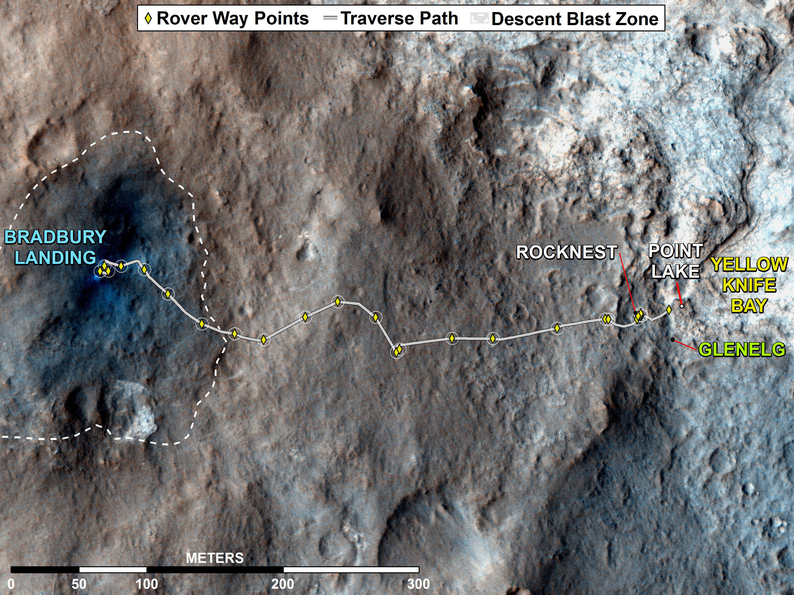 mars rover landing map - photo #25