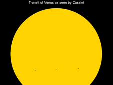 Transit of Venus, as Seen by Cassini