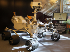 A model of the Mars rover Curiosity, similar to the one shown here, will ride in the Inaugural Parade