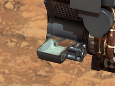 First Curiosity Drilling Sample in the Scoop