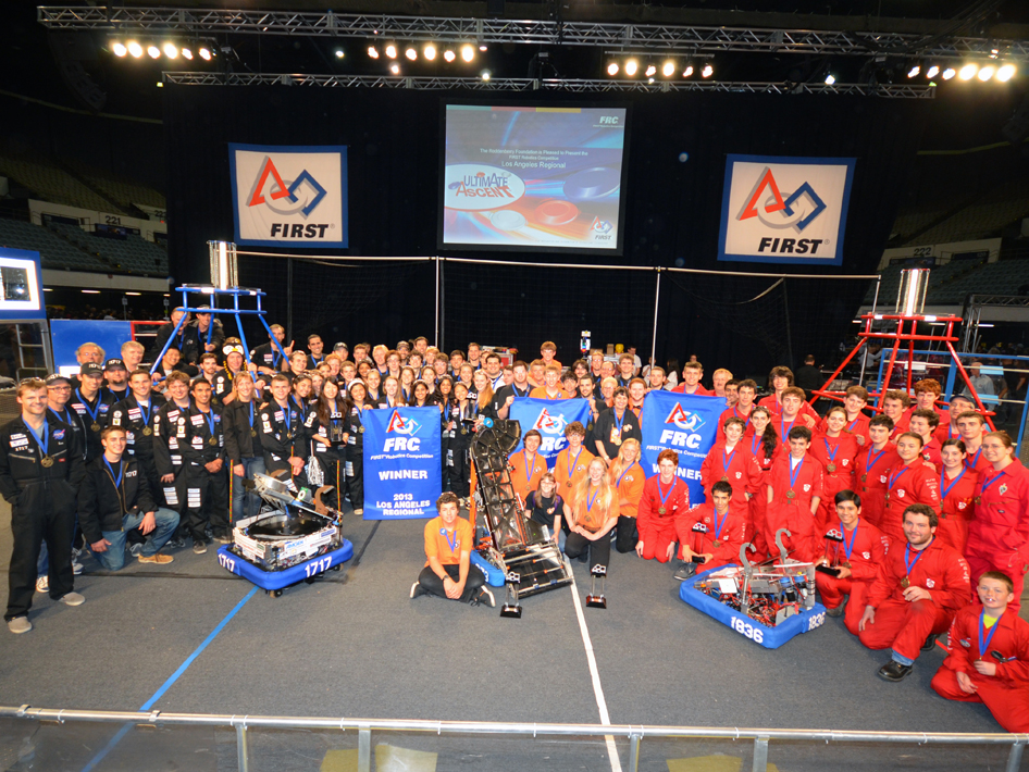 Winners of the 2013 Los Angeles regional FIRST Robotics Competition