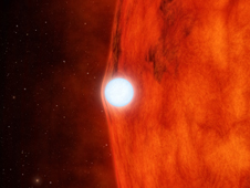 This artist's concept depicts a dense, dead star called a white dwarf