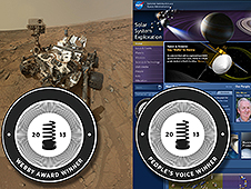 NASA's Curiosity Mars rover social media campaign and its Solar System Exploration site
