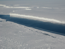 This photo shows the ice front of Venable Ice Shelf, West Antarctica, in October 2008