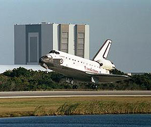 Space Shuttle Endeavour landing at Kennedy Space Center